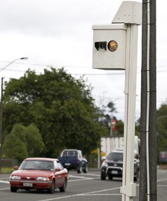 221210 news Photo: Murray Wilson/Manawatu Standard. Speed camera in Sanson.